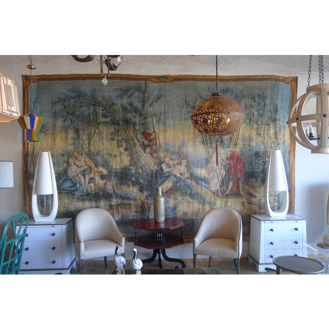 Large Rococo Wall Hanging Tapestry 19th Century - Image 3 of 10