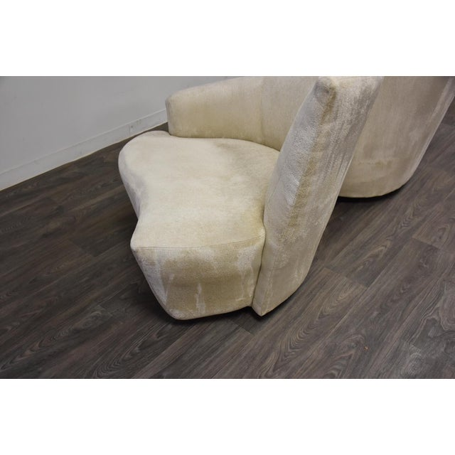 Textile Vladimir Kagan Bilbao Lounge Chairs- a Pair For Sale - Image 7 of 8