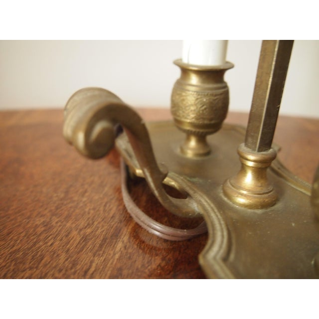Italian Brass and Tole Bouillotte Lamp For Sale - Image 4 of 6