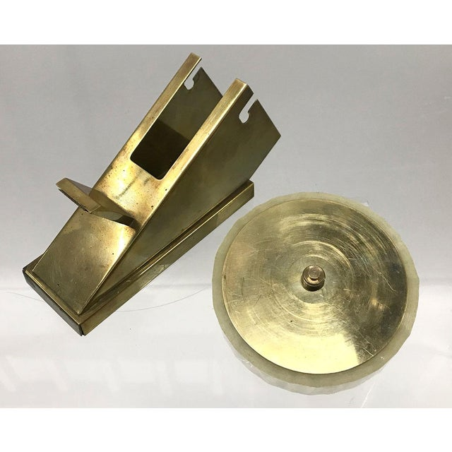 Brass Mid-20th Century Modernist Tape Dispenser For Sale - Image 8 of 9