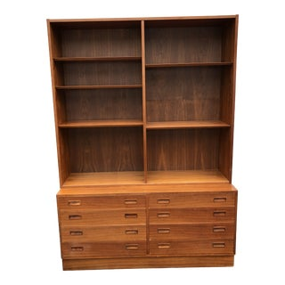 Danish Modern Mid-Century Bookcase For Sale