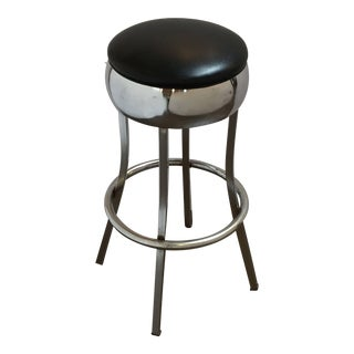 Vintage Chrome Bar Stool For Sale