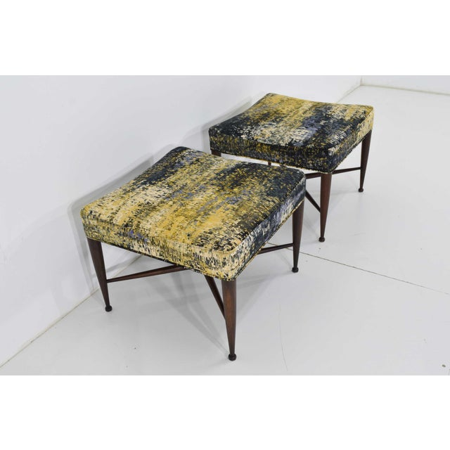 Black Dunbar X-Base Stools by Edward Wormley For Sale - Image 8 of 13