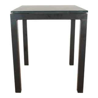 Contemporary Room & Board Glass Top End Table For Sale