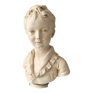 Young Boy Plaster Bust For Sale