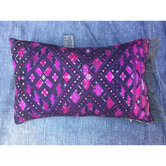 Magenta & Purple Tribal Embroidered Pillow - Image 2 of 6
