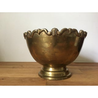 Vintage Footed Brass Bowl Preview