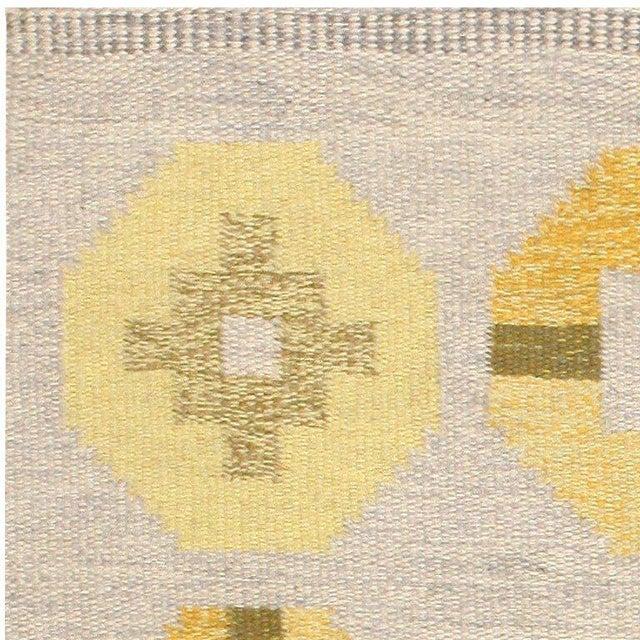 Vintage Swedish Kilim Rug by Barbro Spinchorn - 5′2″ × 8′ For Sale - Image 4 of 7