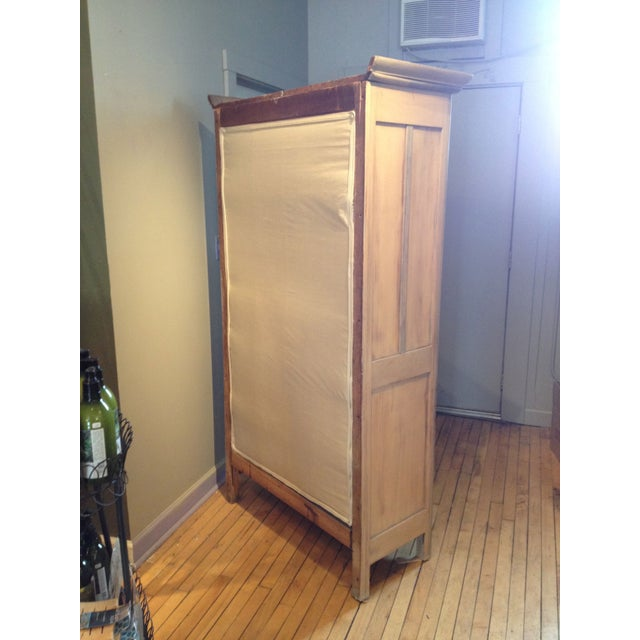 Stained Pine Kitchen Cabinets: Antique Pine Cabinet With Clear Glass Doors