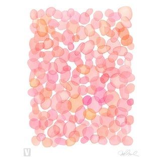 Pink Bubbles, Giclee Print Watercolor 16x20""