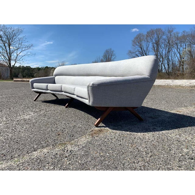 Wood Illum Wikkelso-Mikael Laursen 4-Seat Sofa-Denmark, 1960s For Sale - Image 7 of 11