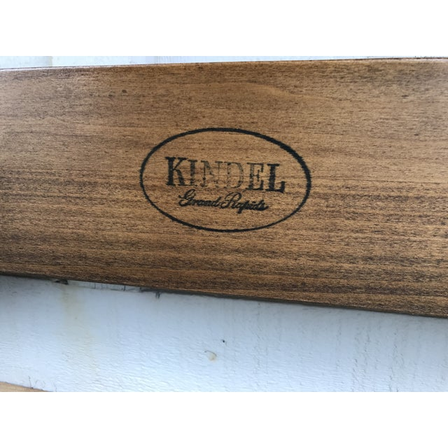 Mid 20th Century Walnut and Cane Twin Headboards by Kindel Furniture - a Pair For Sale - Image 5 of 10