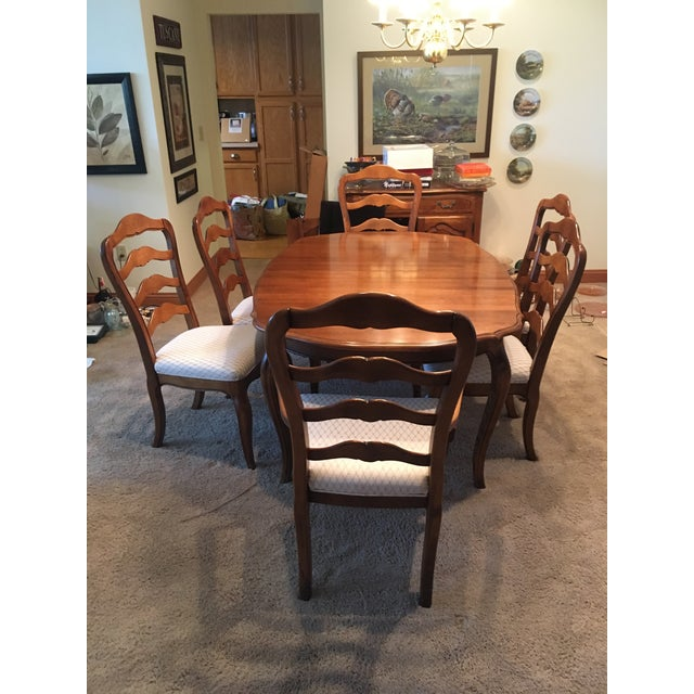 Ethan Allen Ethan Allen French Country Dining Set - 7 Pieces For Sale - Image 4 of 12