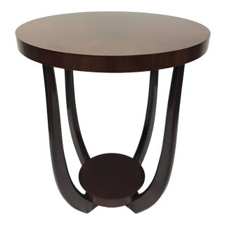 Art Deco Style Cherrywood Side Table For Sale