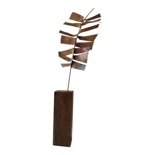 1969 Abstract Metal Leaf Sculpture For Sale