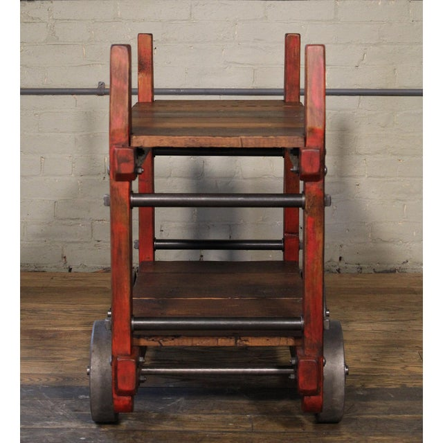 Industrial Bar Cart For Sale - Image 9 of 12