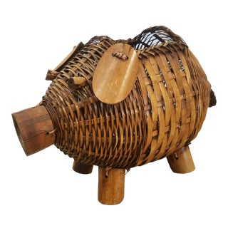 Bamboo Pig Planter For Sale