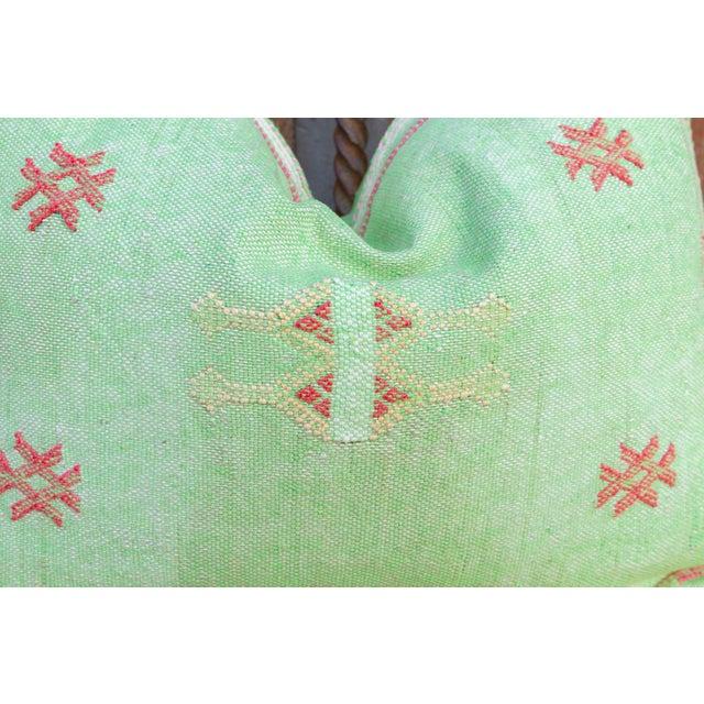 Kia Lumbar Moroccan Silk Rug Pillow For Sale - Image 4 of 8