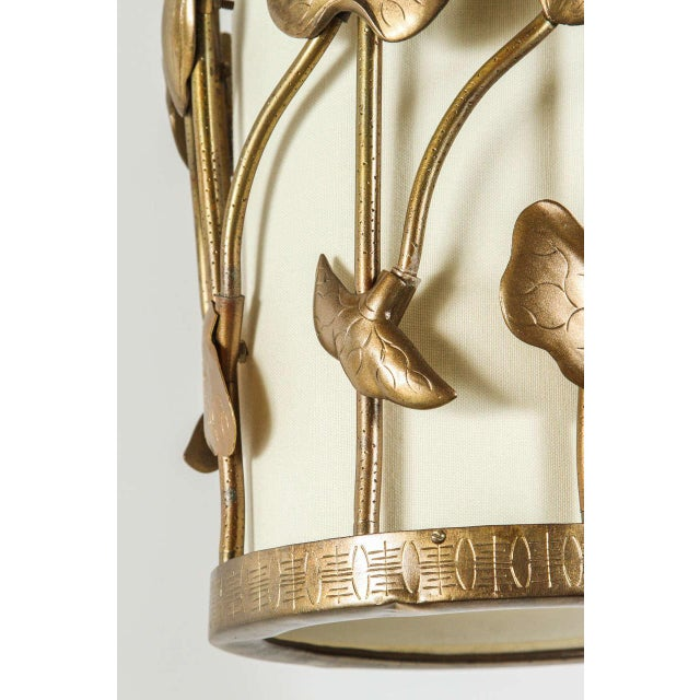 Brass Lotus Pendant - Image 3 of 10