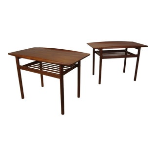 1960s Danish Modern Grete Jalk Teak End Tables - a Pair For Sale