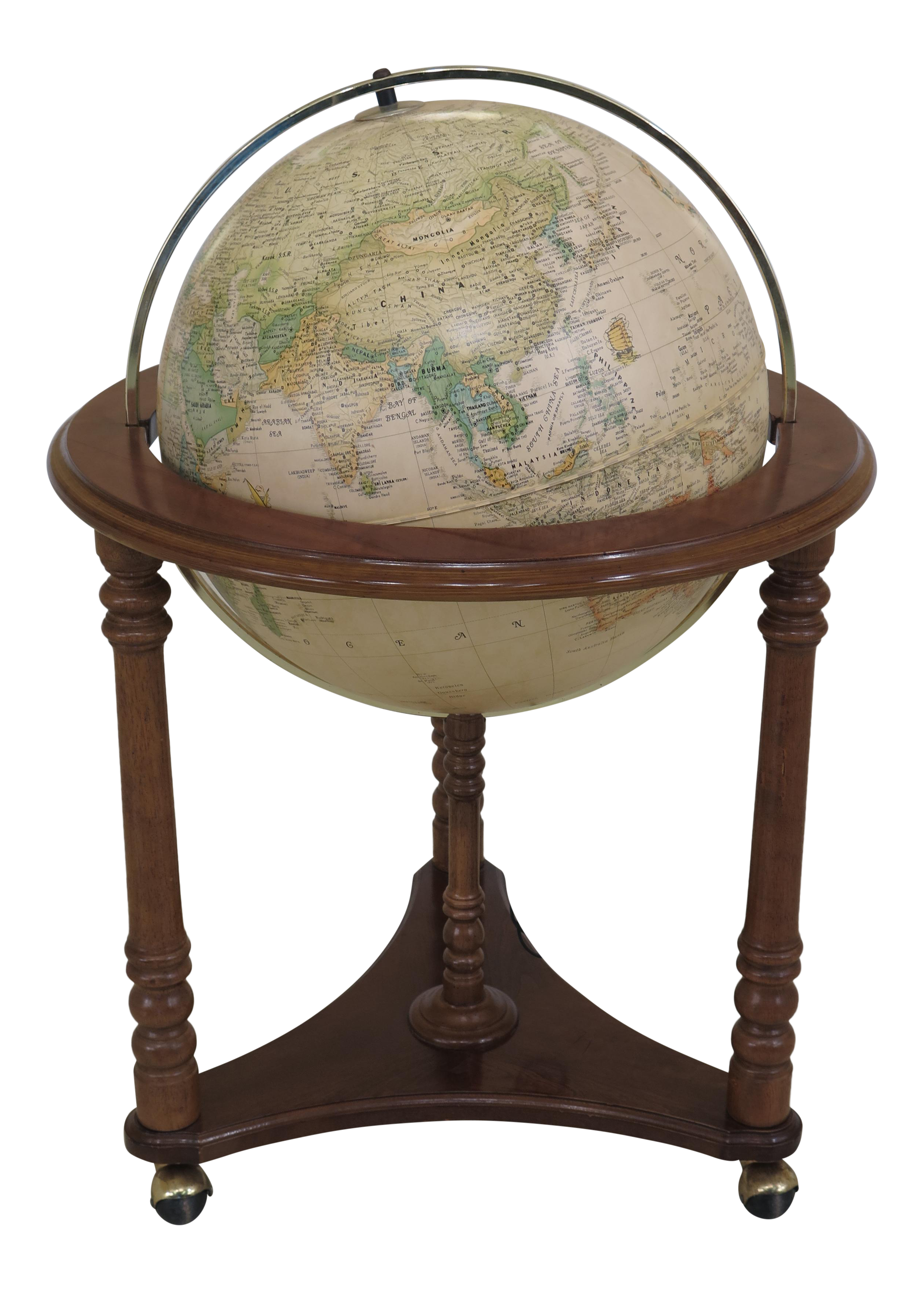 world globe on stand. Heritage Collection Lighted World Globe On Stand L