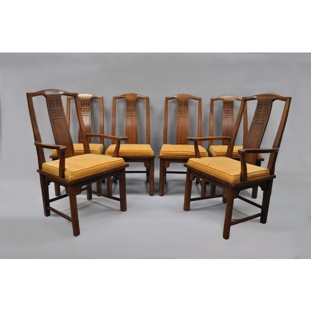 Set of 6 Vintage Oriental James Mont Style Dining Chairs by Century Mid Century Modern For Sale - Image 12 of 13