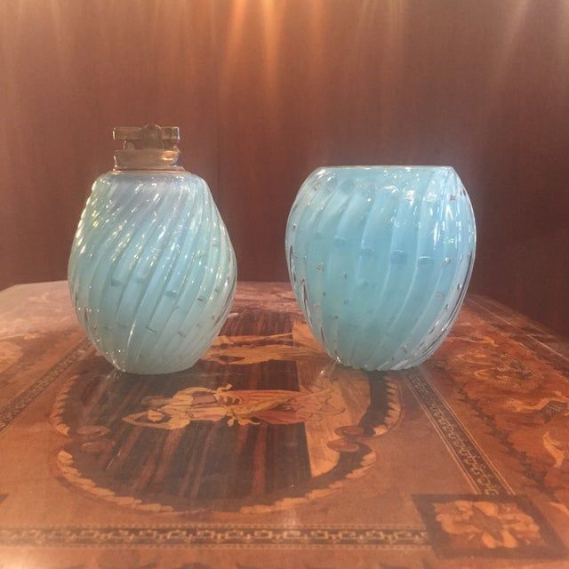Baby Blue Muranoglass Smoke Set - A Pair - Image 2 of 10