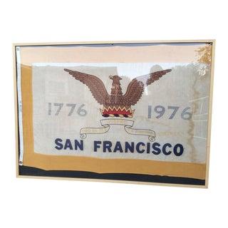 Vintage San Francisco Framed Flag For Sale