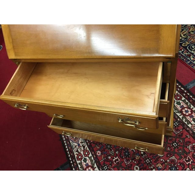 Vintage Traditional Beals Maple Secretary Desk For Sale - Image 6 of 10