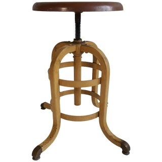 1930s American Industrial Stool by a.s. Aloe Company For Sale