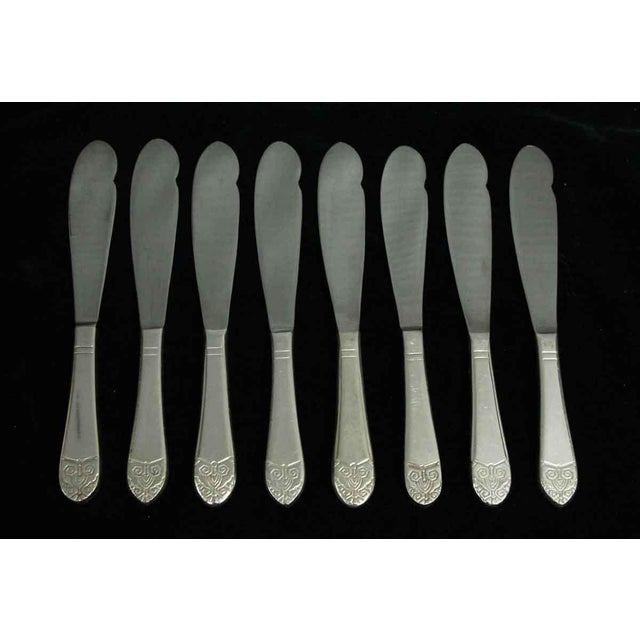 Salvaged Waldorf Art Deco Fish Knife Set of 8 For Sale - Image 6 of 6