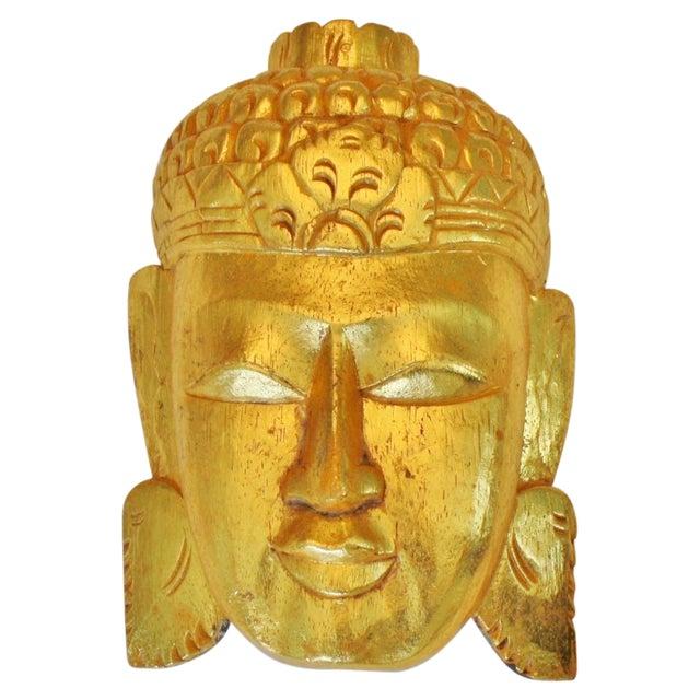 Vintage Giltwood Buddha Mask - Image 1 of 3