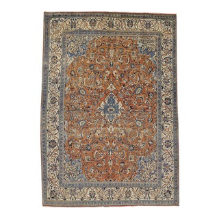 Vintage Persian Mahal Rug With Victorian Style - 09'00 X 12'10 For Sale
