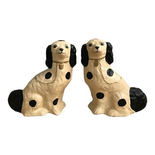Staffordshire Style Dog Figurines - a Pair For Sale