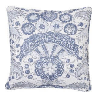 Schumacher Calicut Pillow in Delft For Sale