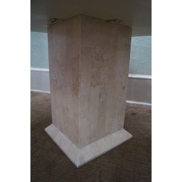 White Maitland Smith Stone Marble Tables - A Pair For Sale - Image 8 of 10