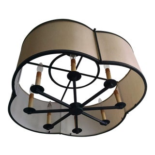 Transitional 8-Light Shaded Chandelier