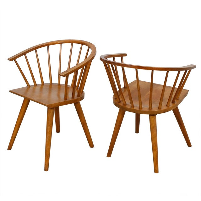 Russell Wright for Conant Ball Dining Armchairs- A Pair - Image 2 of 10
