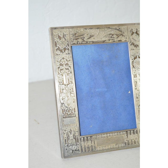 Sterling Silver New Born Baby Picture Frame c.1920s For Sale - Image 4 of 7