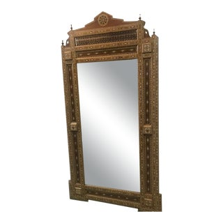 Moorish Style Mosaic Inlaid Two-Light Mirror For Sale