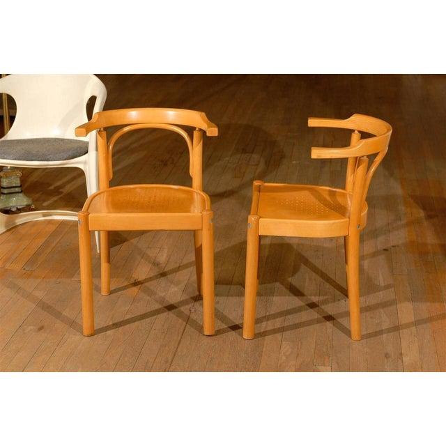 1960s Midcentury Beechwood Armchairs, Hans Wegner - Pair For Sale - Image 5 of 8