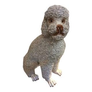 Vintage Italian Ceramic Poodle Statues For Sale