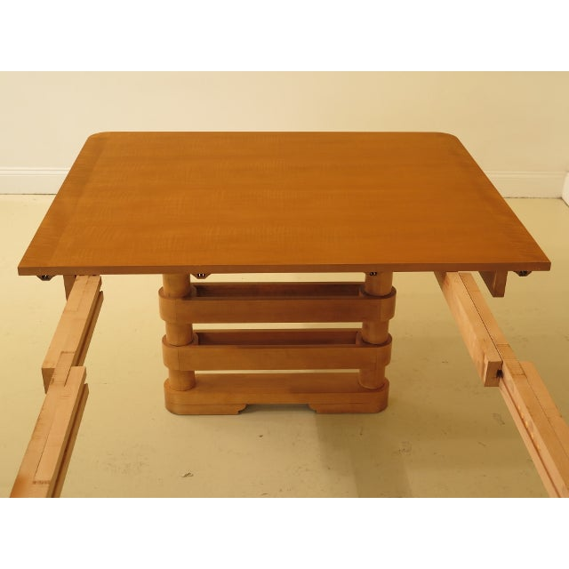 Brown Baker Modern Design Satinwood Mahogany Dining Room Table For Sale - Image 8 of 13