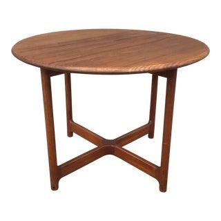 Danish Modern Rasmus Solberg Mobler Round Teak Occasional Table For Sale