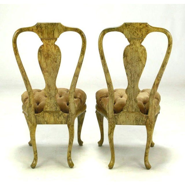 Four Phyllis Morris Oil-Drop Lacquered Queen Anne Chairs - Image 7 of 9