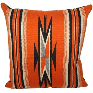 Fantastic Chimayo Weaving Pillow For Sale