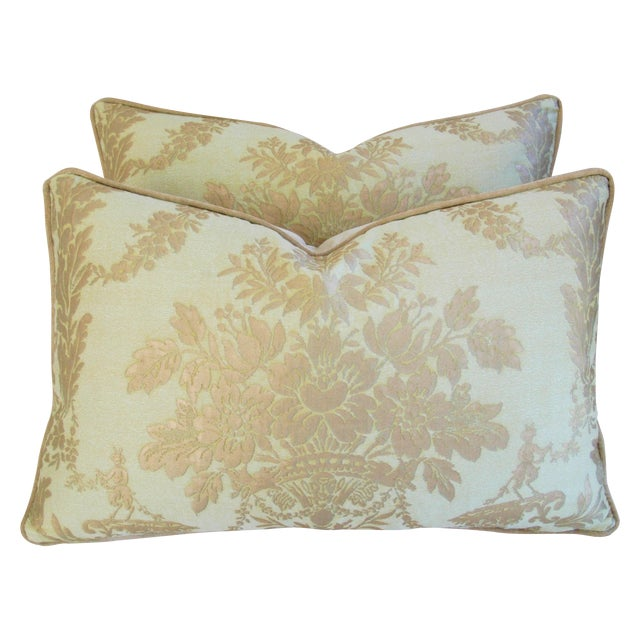 Italian Mariano Fortuny Boucher Pillows - A Pair - Image 1 of 11