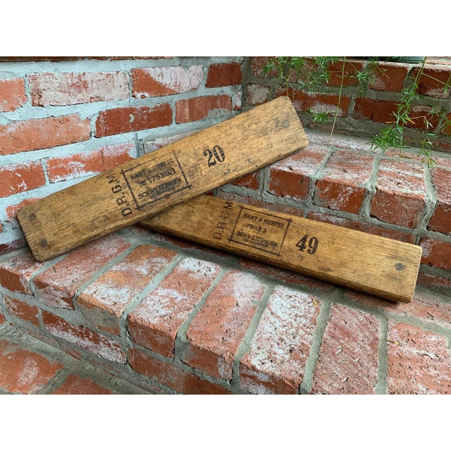 Rustic European Antique German Wood Cigar Molds - a Pair For Sale - Image 3 of 13