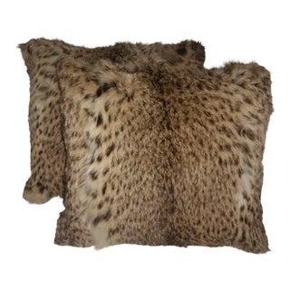 Contemporary Geoffrey Cat Fur Pillows - a Pair For Sale