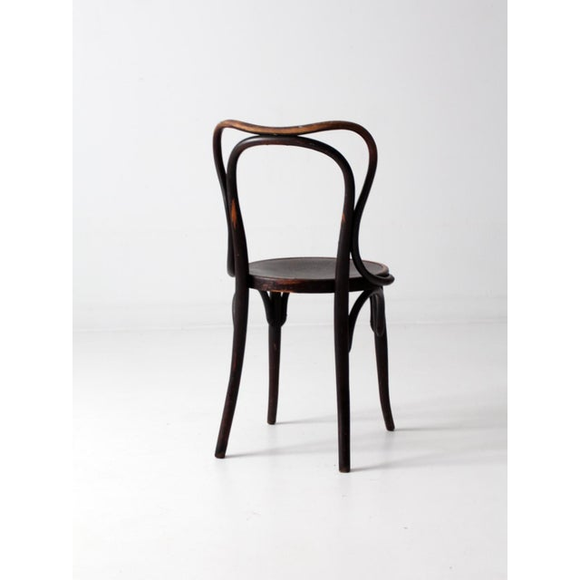 Wood Antique Jacob & Josef Kohn Bentwood Chair For Sale - Image 7 of 12